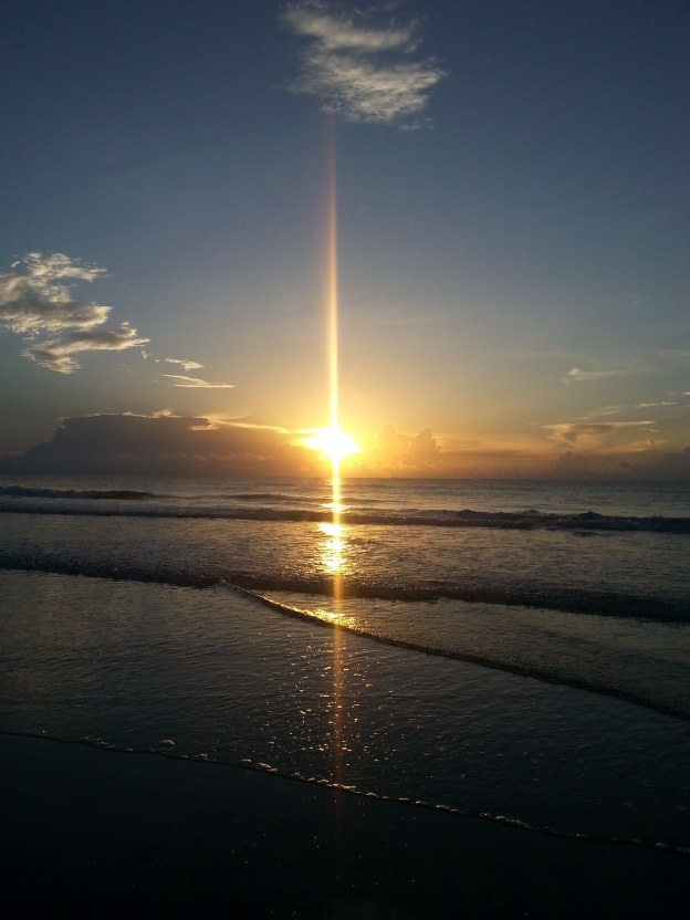 Sunrise at Cocoa Beach, Florida, July 2016.