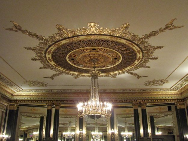 Chandelier in The Empire Room at the Palmer House in Chicago.