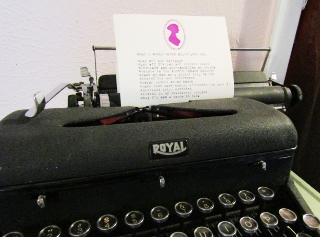 Typed list on a vintage royal typewriter by Ash Tree Grove.